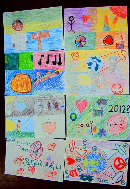drawings by the students from Kwazulu-Natal, South Africa